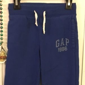 Gap Fleece Joggers ROYAL BLUE Boys SMALL 6/7